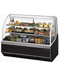 Turbo Air TD4R 48 Deli Case with High Density PU Insulation Sloped Rear Doors Cantilevered Wired Shelves 5 Casters Independent Shelf Lights and Frameless