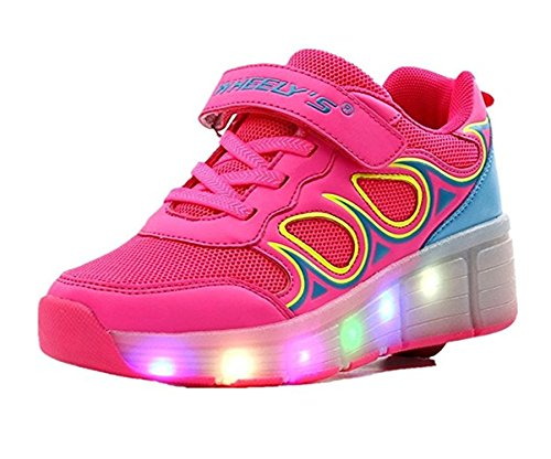 Boys Girls LED Light Single Wheel colorful LED Roller Skate