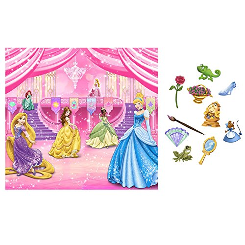 KidsPartyWorld.com Disney Princess Royal Event Backdrop Kit ()