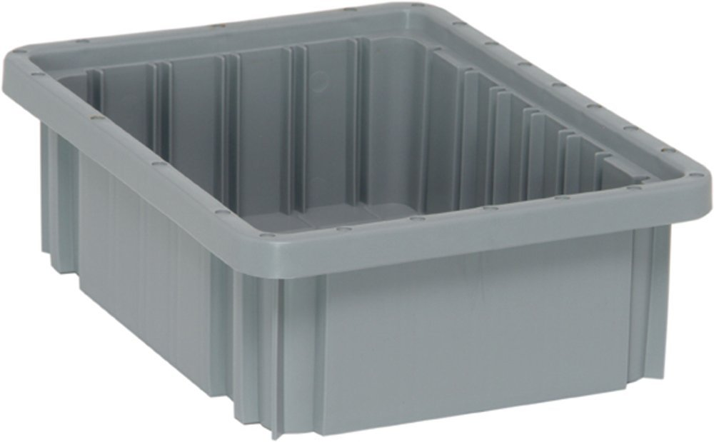 Quantum Storage Systems DG91035GY Dividable Grid Container 10-7/8-Inch Long by 8-1/4-Inch Wide by 3-1/2-Inch High, Gray, 20-Pack