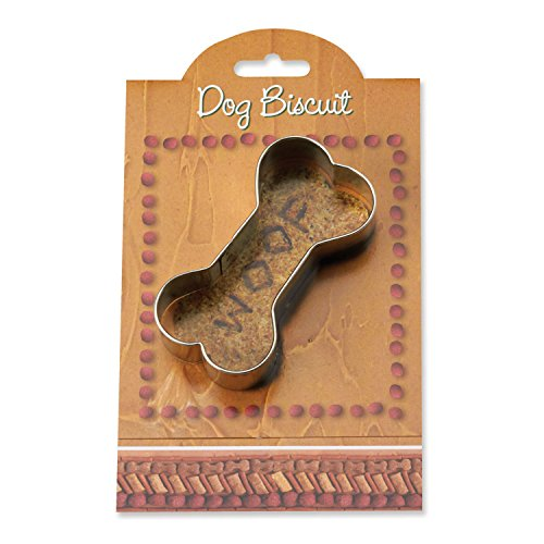 Dog Biscuit Cookie and Fondant Cutter - Ann Clark - 3.8 Inches - US Tin Plated Steel -