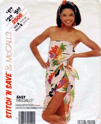 McCall's 2508 Vintage Sewing Pattern Strapless Jumpsuit