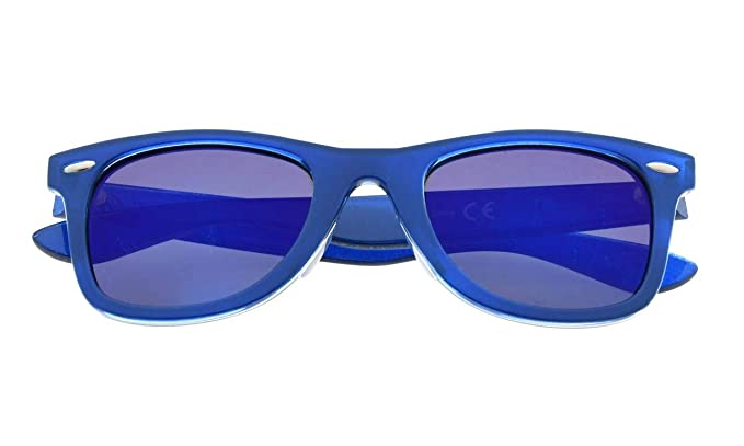 006ab9d0d8e Eyekepper Classic 80 s Vintage Polarized Sunglasses Blue Blue Mirror  Amazon .co.uk  Clothing