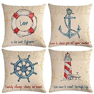 51YSneA44%2BL._SS300_ 100+ Nautical Pillows & Nautical Pillow Covers