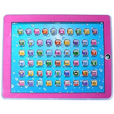UDS English Learning Tablet for Kids Touch-screen Lights and Sound Toys (Blue): Toys & Games