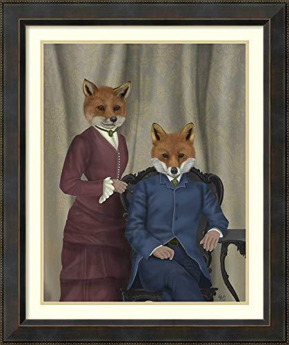 Framed Wall Art Print | Home Wall Decor Art Prints | Fox Couple Edwardians by Fab Funky | Traditional Decor