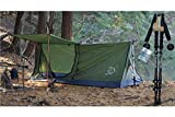 River Country Products Trekker Tent 1A Combo Pack, One Person Trekking Pole Tent with Aluminum/Carbon Fiber Trekking Poles - Green