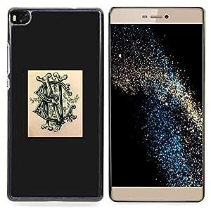"""For Huawei Ascend P8 (Not for P8 Lite) Case , Logotipo de la marca Poser tinta del tatuaje de la pintada"""" - Diseño Patrón Teléfono Caso Cubierta Case Bumper Duro Protección Case Cover Funda"""