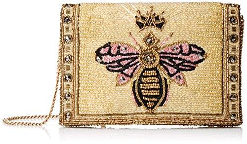 Lined Clutch Beaded - Mary Frances Buzzed Beaded/Embroidered Queen Bee Crossbody Clutch