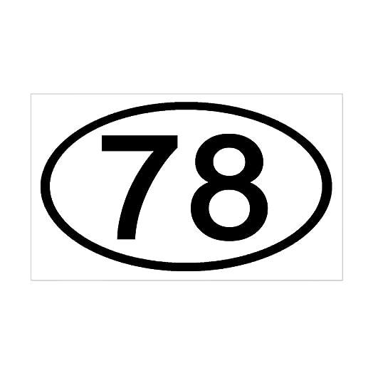 Cafepress number 78 oval rectangle sticker rectangle bumper sticker car decal