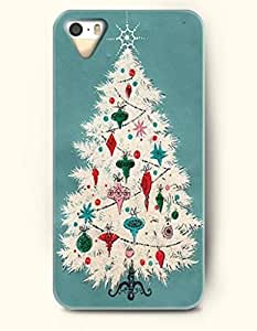 Merry Christmas A White Xmas Tree In Teal Background - OOFIT iPhone 4 4s Case