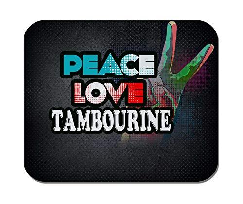 Makoroni - Peace Love Tambourine Music- Non-Slip Rubber Mousepad, Gaming Office ()