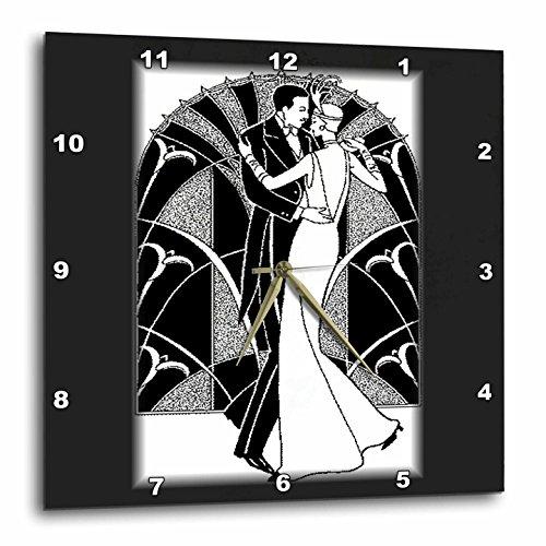 Cheap 3dRose dpp_41536_2 Art Deco Dancing Couple Wall Clock, 13 by 13-Inch