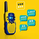"USA Toyz Walkie Talkies for Kids - ""Vox Box"" Voice Activated Walkie Talkies for Adults and Kids 3+ Mile Two Way Radio Walkie Talkies Long Range Set"
