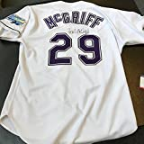 1998 Fred McGriff Signed Game Used Tampa Bay Devil Rays Jersey COA - PSA/DNA Certified - MLB Game Used Jerseys