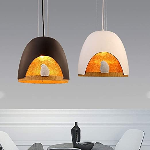 Amazon.com: Chandelier Bird Resin Chandelier Black and White Ceiling Lamp,White: Home & Kitchen