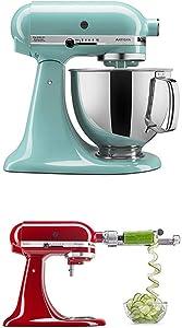KitchenAidArtisan Series 5-Qt. Stand Mixer - Aqua Sky and Spiralizer Attachment