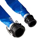 Apache 98138049 2'' x 50' Blue PVC Lay-Flat Discharge Hose with Poly Cam Lock Fittings