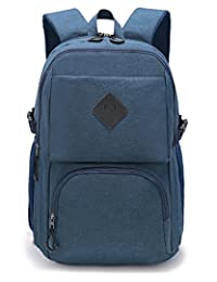 Weekend Shopper Slim Laptop Backpack School Backpack with Laptop Compartment for College Men and Women Fit up to 17 inch Laptop Blue