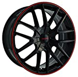 Touren TR60 3260 Wheel with Black Finish with Red Ring (2...