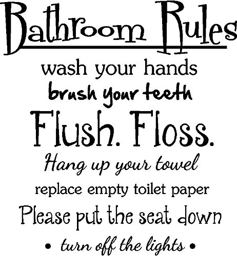 Amazon Com Bathroom Rules Wash Your Hands Brush Your Teeth