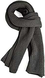 Warm Autumn and Winter Scarf,EONPOW Men's Pure Color Knitting Sca