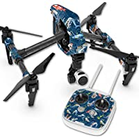 MightySkins Skin For DJI Inspire 1 Quadcopter Drone – Saltwater Compass Protective, Durable, and Unique Vinyl Decal wrap cover | Easy To Apply, Remove, and Change Styles | Made in the USA