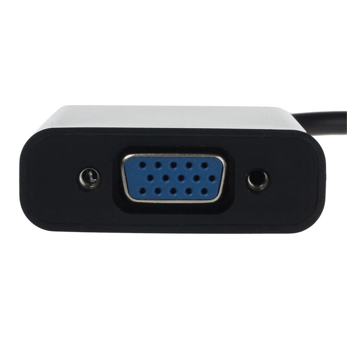 Micro HDMI a VGM Compatible con Sistemas Múltiples Negro de Soporta Resolución de Salida VGA a Adaptador Mini HDMI a VGA a Computadores Portátiles Ultrabooks