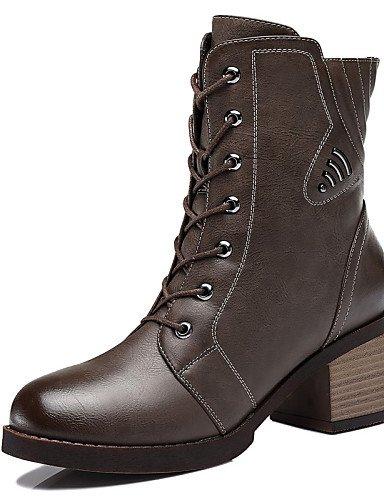 Eu39 Robusto Uk6 Y De Nieve 5 Vestido Gray Uk6 negro Botas Mujer Anfibias Zapatos Cn39 Casual us8 5 Oficina Tacón Trabajo Sintético us8 Cn40 Xzz Gray UnIHw