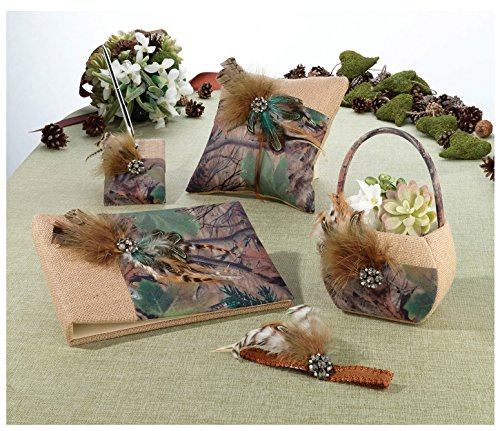 (Lillian Rose Camouflage Collection 4 Piece Ring Pillow Multicolor)