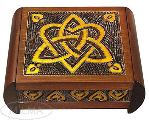 Polish Handmade Trinity and Heart Secret Box Wooden Jewelry Keepsake ()