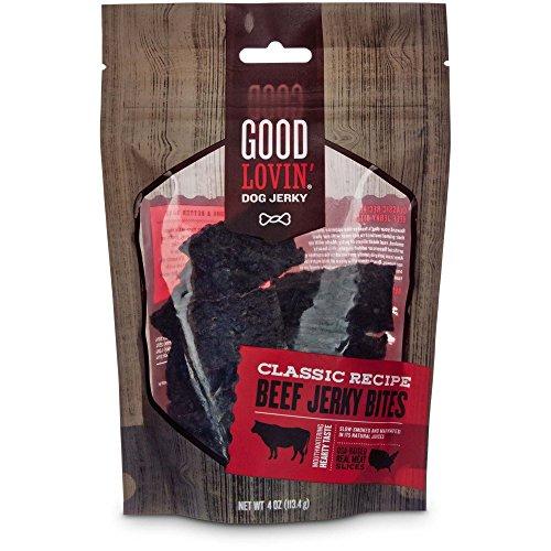 Good Lovin' Classic Recipe Beef Jerky Bites Dog Treats, 4 oz. Review