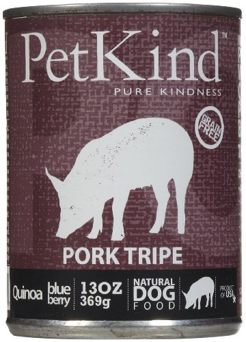 PetKind Grain-Free All Natural Dog Food, 13 oz cans (Pack of 12), Pork Tripe