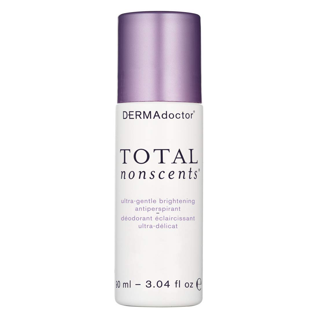DERMAdoctor Total Nonscents Ultra-Gentle Brightening Antiperspirant, 3.04 fl oz