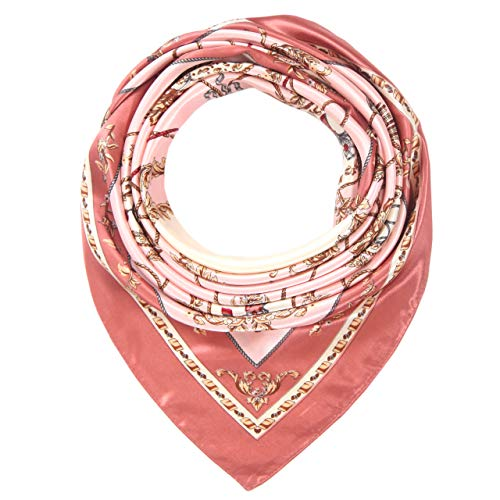 (Women's Silk Like Scarf Hair Satin Scarf Fashion Pattern Square Headscarf for Sleeping)