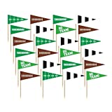 Amscan 400062  Football Flag Picks Multicolor, One Size, 36ct