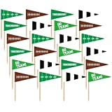 Amscan Football Flag Picks, Party Decoration