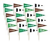 Amscan Football Frenzy Birthday Party Flag Picks Serveware (36 Pack), Multi Color, 2