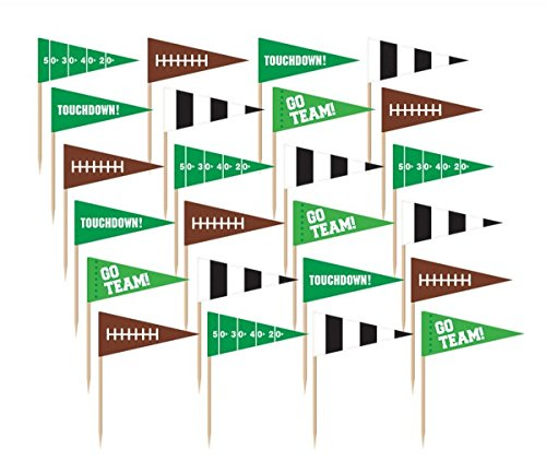 Amscan Football Flag Picks, Party Decoration