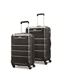 Samsonite Invoke 2 Piece Nested Hardside Set (spinner 20/spinner 24) Luggage Set, Black