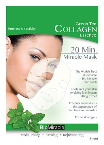 BioMiracle 20 Min. Rejuvenating Miracle Mask - Green Tea: Firmness & Elasticity (5 Sheets)