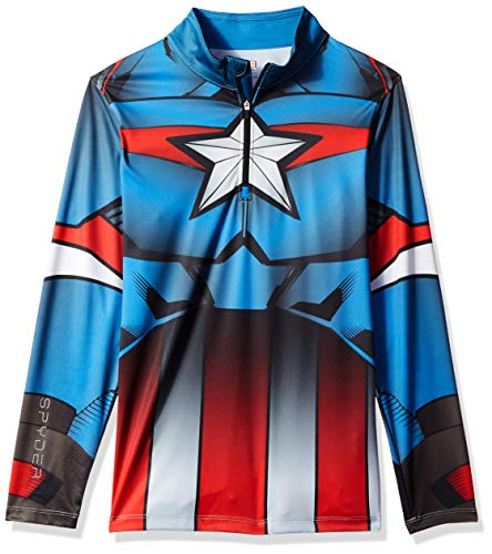 Spyder Boy's Marvel Limitless Hoody, French Blue/Captain, Large