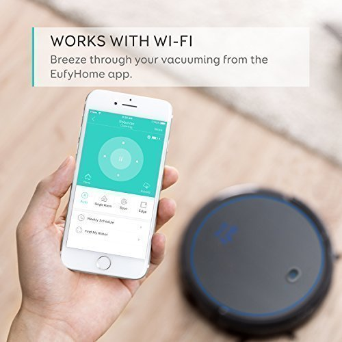 eufy [BoostIQ] RoboVac 11c Pet Edition, Wi-Fi Connected, 1200Pa (Max) High Suction, 3-Point Cleaning System, Self-Charging Robotic Vacuum Cleaner, Cleans Hard Floors to Medium-Pile Carpets