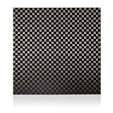 Elevated Materials Carbon Fiber Sheet - Heavy Duty Flat Panel Sheeting with Checker Woven Pattern - Perfect for Custom Projects - 12' x 12' x 1/32'