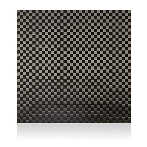 Elevated Materials Carbon Fiber Sheet - Heavy Duty Flat Panel Sheeting with Checker Woven Pattern - Perfect for Custom Projects - 24