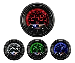 Oil Temperature Gauge- Electrical Digital Green/white/red/blue Premium EVO Series 60mm (2 3/8