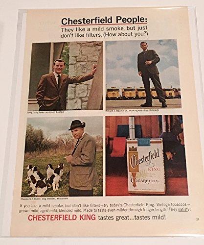 1965 Chesterfield People Cigarette Magazine Print Advertisement