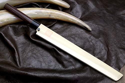 Yoshihiro Hongasumi White Steel Sakimaru Takobiki Sushi Sashimi Japanese Knife (10.5'' (270mm)) by Yoshihiro (Image #8)