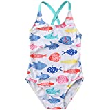 DGAGA Girls' One Piece Swimsuit Cartoon Print Kids Swimwear