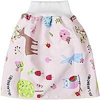 Yurgrt - pantalones cortos cómodos con falda de pañal para niños,impermeables,para bebés,para aprender a aprender…